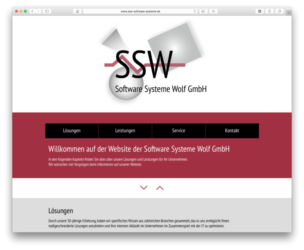 <a href='http://www.ssw-software-systeme.de' target='_blank'>www.ssw-software-systeme.de</a><br />Software Systeme Wolf GmbH<br />Mai 2018 - Technologie: HTML responsive<br/>  (4/64)